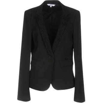 《セール開催中》LIU JO レディース テーラードジャケット ブラック 46 ポリエステル 88% / ポリウレタン 12%
