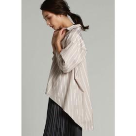 LAUTREAMONT / 女性らしいしなやかな素材を使ったストライプチュニックシャツ