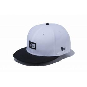 【ニューエラ公式】 9FIFTY ウーブンラベル オプティックホワイト ブラックバイザー メンズ レディース 57.7 - 61.5cm キャップ 帽子 12119330 NEW ERA