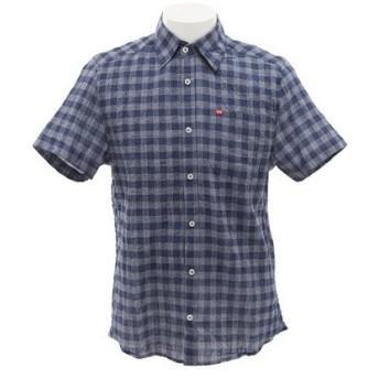 ティーワイアール(TYR) 【多少の汚れ等訳あり大奉仕】半袖チェックシャツ TCHEKS-17SRL NVY (Men's)