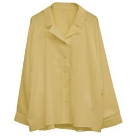 SocialGIRL ソーシャルガール オープンカラービックシルエットオーバーサイズレトロシャツ