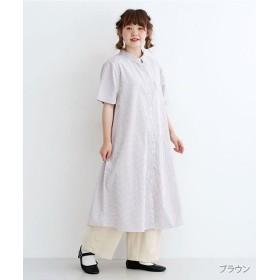 メルロー ミニポケット半袖シャツワンピース レディース ブラウン FREE 【merlot】