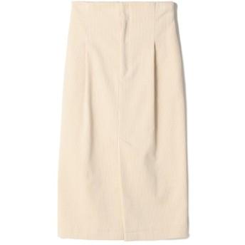 ESTNATION / コーデュロイハイウエストタイトスカート ホワイト/36(エストネーション)◆レディース スカート