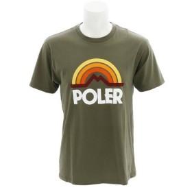 POLER MOUNTAIN RAINBOW TEE @21200019-OLV ロゴ半袖Tシャツ (Men's)
