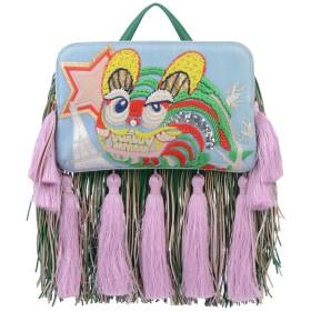《セール開催中》THE VOLON レディース ハンドバッグ ブルー 山羊革 85% / 紡績繊維 15%