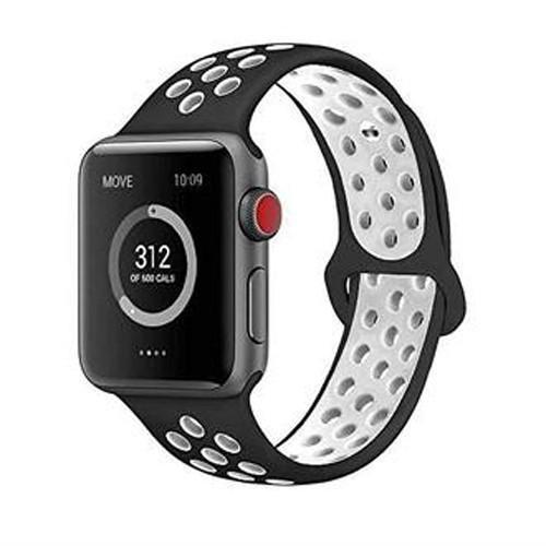 AdMaster適用Apple錶帶 軟矽膠更換腕帶適用iWatch Apple Watch系列1/2/3/4
