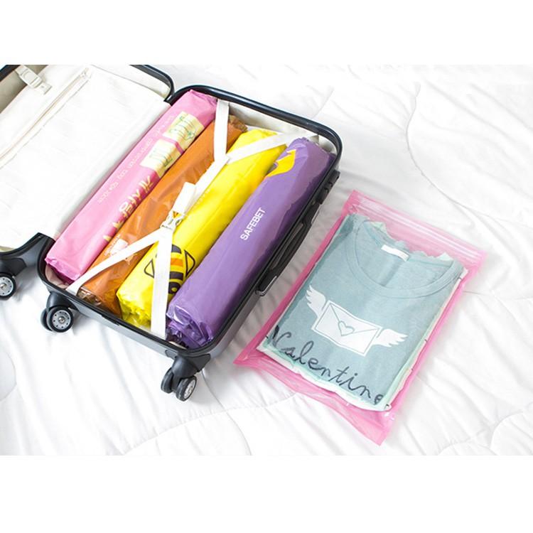 韓版 SAFEBET 旅行手捲真空壓縮袋-大(3入/組)顏色隨機