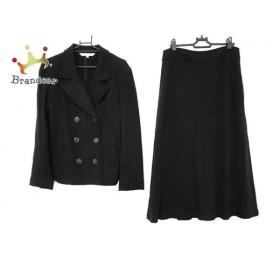 ローラアシュレイ LAURAASHLEY スカートスーツ サイズ9 M レディース 黒  値下げ 20190918