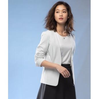 【ビズリート】ストレッチノーカラージャケット(上下別売りスーツ) (大きいサイズレディース)スーツ,women's suits ,plus size