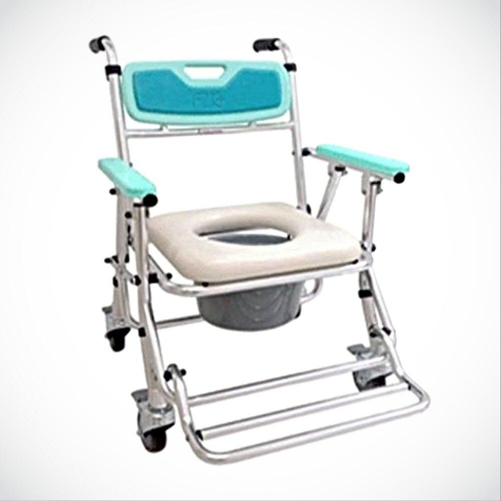 來而康 ER-4542 收合式洗澡便椅_座位可調高低功能_居家輔具-鋁合金四輪固定手把型EVA軟質小靠背