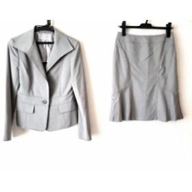 ヴァンドゥ オクトーブル 22OCTOBRE スカートスーツ サイズ38 M レディース グレー【中古】20190705