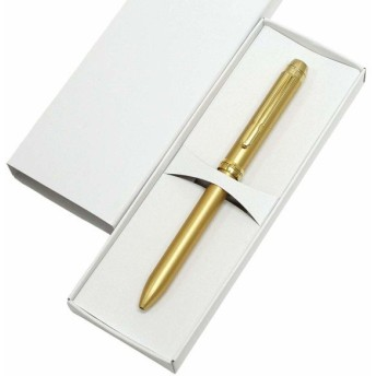 日本製ターボ2色ボールペン・カスタムゴールド 2パック 化粧箱入 黒赤0.7ミリ芯 オール金属パーツ2色回転ボー