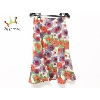 シビラ Sybilla スカート サイズM レディース 美品 レッド×パープル×マルチ 花柄 新着 20190709
