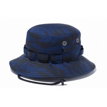 NEW ERA ニューエラ アドベンチャー ミニリップストップ タイガーストライプカモネイビー サファリハット アドベンチャーハット アウトドア トレッキング ハット 帽子 メンズ レディース M/L (59cm) 12119319 NEWERA