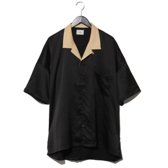 63%OFF WHO'S WHO GALLERY (フーズフーギャラリー) サテンボウリングシャツ ブラック
