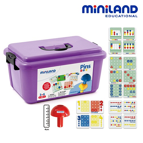 盒損全新【西班牙Miniland】綜合幾何數字基礎訓練組(含手提箱)