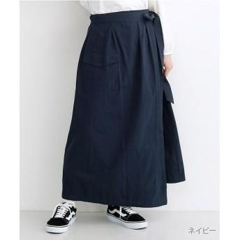 【50%OFF】 メルロー ビッグポケットサロンスカート レディース ネイビー FREE 【merlot】 【セール開催中】
