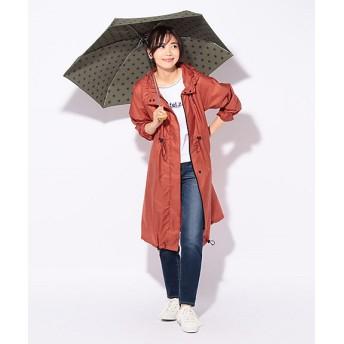 <CARA O CRUZ> 折りたたみ傘付きレインコート(ポーチ付き) オレンジ 【三越・伊勢丹/公式】