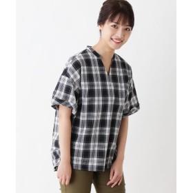 シャツ - 3can4on 【洗濯機OK・イージーケア】スキッパーシャツ×タンクトップ