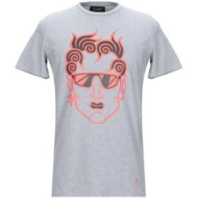 《期間限定 セール開催中》LUCABEE メンズ T シャツ グレー M コットン 94% / ポリウレタン 6%