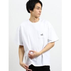 【20%OFF】 タカキュー カンゴール/KANGOL ポケット付きロゴ刺繍半袖Tシャツ メンズ ホワイト M 【TAKA-Q】 【セール開催中】