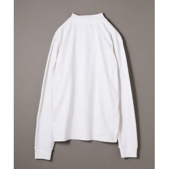 シップス SHIPS JET BLUE: ヘビーウェイト モックネックTシャツ メンズ オフホワイト LARGE 【SHIPS】
