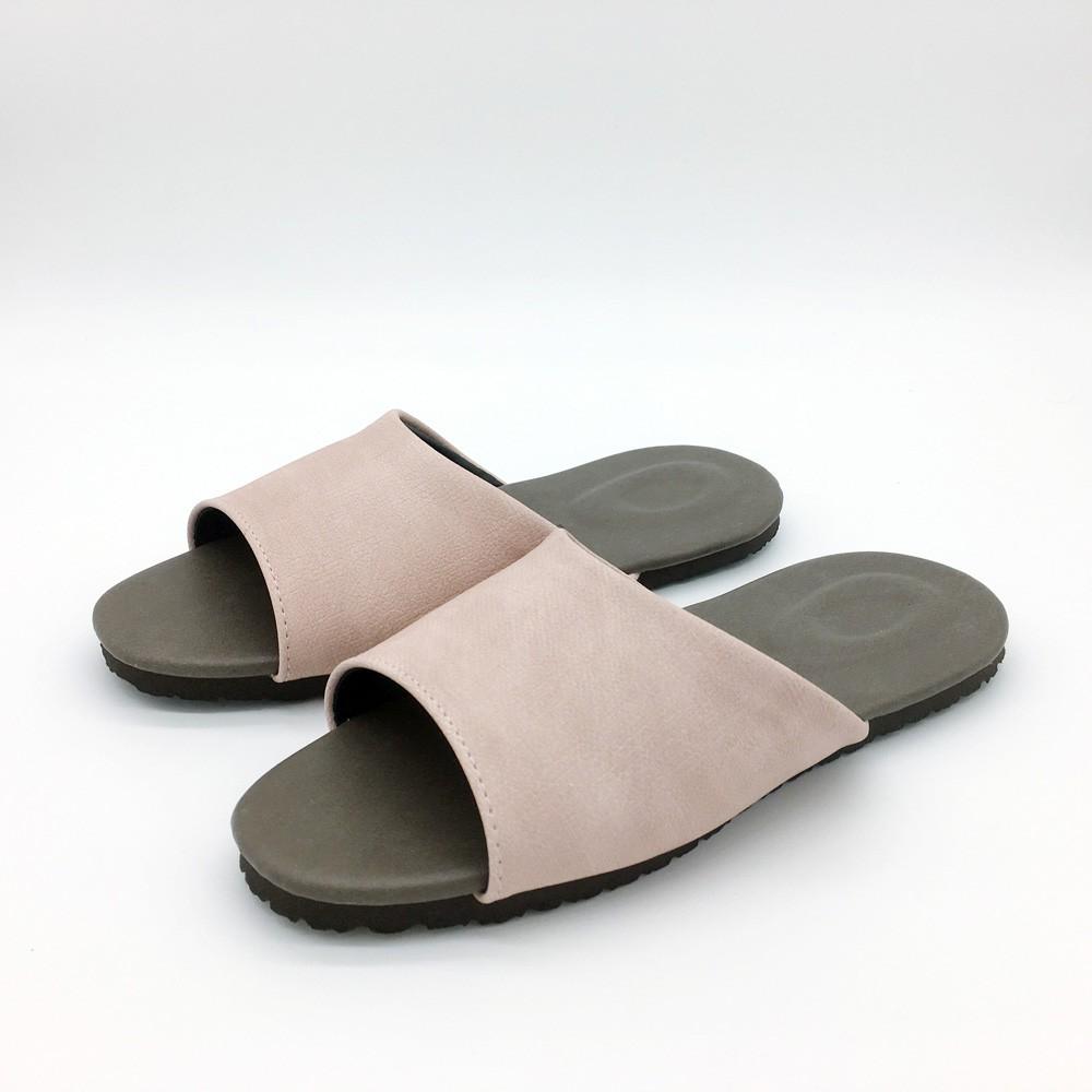 【iSlippers】風格系列-渲色皮質室內拖鞋 /渲色粉 [台灣犀利趴]