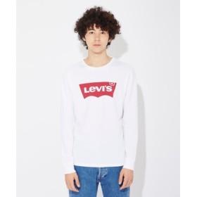 Levi's 「Sports Inspired」スポーツハウスマーク長袖Tシャツ メンズ ホワイト