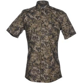 《期間限定 セール開催中》DOLCE & GABBANA メンズ シャツ ミリタリーグリーン 37 100% コットン