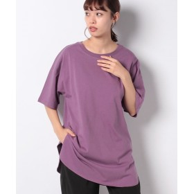 【67%OFF】 コエ 裾ラウンドチュニックTシャツ レディース パープル F 【koe】 【セール開催中】