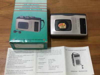 Stereo player 收錄放音機 FM/AM 收音機 (CS-959) 錄音機 密錄機 使用一般卡帶
