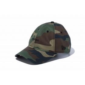 【ニューエラ公式】 9THIRTY クロスストラップ NEW ERA ミニロゴ ウッドランドカモ × ブラック メンズ レディース 56.8 - 60.6cm キャップ 帽子 12026712 NEW ERA