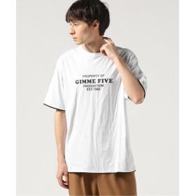 ジャーナルスタンダード GIMME FIVE REVERSIBLE Tシャツ メンズ ホワイト L 【JOURNAL STANDARD】