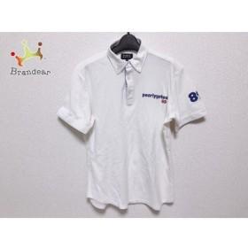 パーリーゲイツ 半袖ポロシャツ サイズ5 XL メンズ アイボリー×ブルー×レッド 刺繍  値下げ 20190927