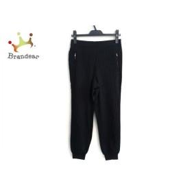 トゥモローランド TOMORROWLAND パンツ サイズ36 S レディース 黒×白 MACPHEE/ストライプ   スペシャル特価 20191023