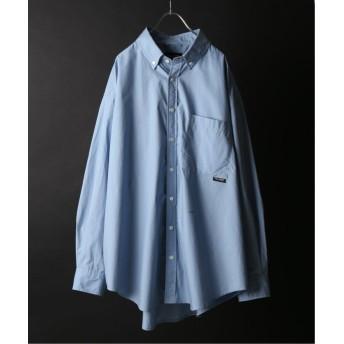 ジャーナルスタンダード PALMER for relume / CHAVO SHIRT ビッグシャツ メンズ サックスブルー M 【JOURNAL STANDARD】