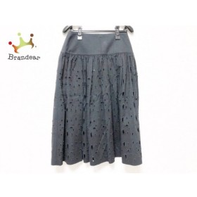 レキップ ヨシエイナバ L'EQUIPE YOSHIE INABA スカート サイズ7 S レディース 美品 黒   スペシャル特価 20191013