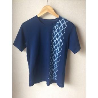 天然藍染Tシャツ女性用半袖 L
