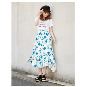 CECIL McBEE(セシルマクビー)花柄アシンメトリースカート