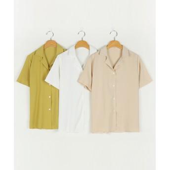 ブラウス - NOWiSTYLE MICHYEORA(ミチョラ)開襟ブラウス韓国 韓国ファッション ブラウス シャツ 半袖 トップス 開襟
