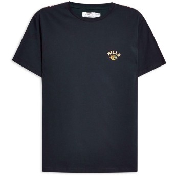 《期間限定セール開催中!》TOPMAN メンズ T シャツ ダークブルー M コットン 100% Navy Taping 'Hills' T-Shirt