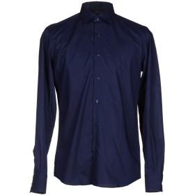 《セール開催中》LES COPAINS メンズ シャツ ダークブルー 44 コットン