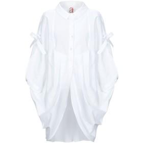 《期間限定セール開催中!》ANDREA TURCHI レディース シャツ ホワイト 38 コットン 100%