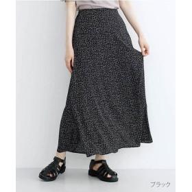 メルロー サイドスリットAラインスカート レディース ブラック FREE 【merlot】