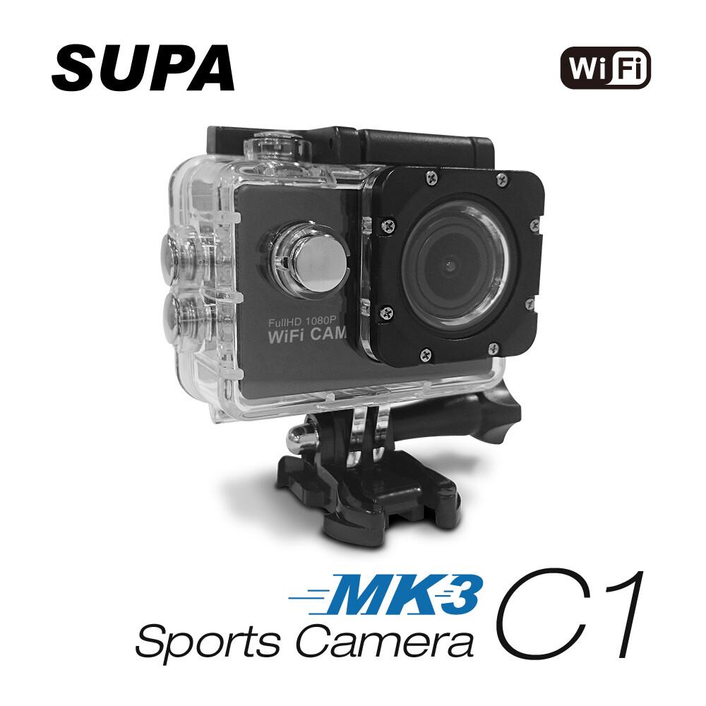 速霸 c1 三代-mk3 1080p wifi 極限運動 機車防水型行車記錄器 凱騰