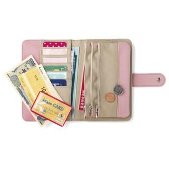 充実ポケットで整とん美人 ハッピーピンクの手帳型ポーチ フェリシモ FELISSIMO【送料:450円+税】