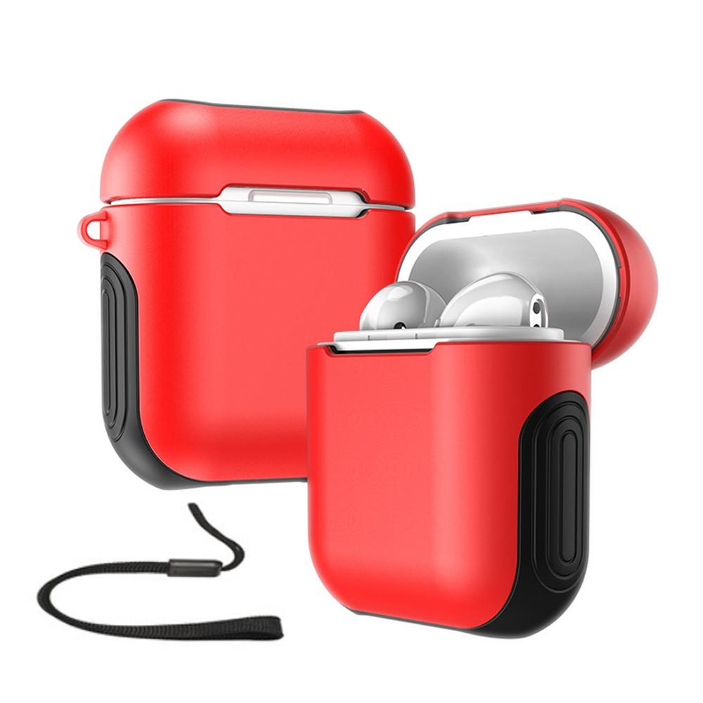 AirPods保護套防摔殼 PC+TPU 蘋果 無線耳機 收納包 收納套 掛繩