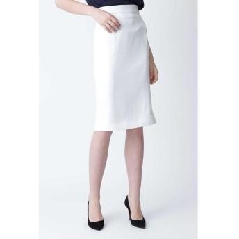 ◆ハイツイストツイルサイドスリットスカート ホワイト