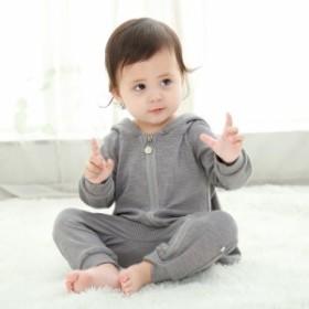 ベビー服 おしゃれ ロンパース ベビー 男の子 女の子 カバーオール ロンパース 子供用 かわいい  新生児 赤ちゃん 帽子付き お出かけ 出