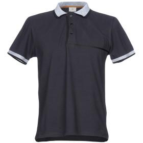 《期間限定 セール開催中》PEUTEREY メンズ ポロシャツ ブルーグレー M コットン 100%